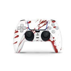 PS5 Controller Skin - Design Aufkleber Blood White