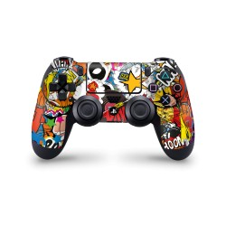PS4 Controller Skin - Design Aufkleber Stickerbomb Color