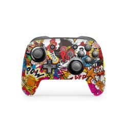 Skin Nintendo Switch Pro Controller - Stickerbomb Color Skin von Epic Skin